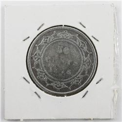 1876h NFLD Victoria 50 Cent VG10