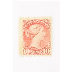 Estate Canada Post 10 cent Small Queen Brown/Red M