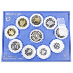 Monete Italiane Proof Coin Set, 1985 with C.O.A.