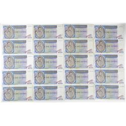 Lot (20) ZAIRE 1977 - 10.00 Notes (VF)