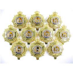 Lot (10) Queen's Crown Le Regt. De Chateauguag Sle