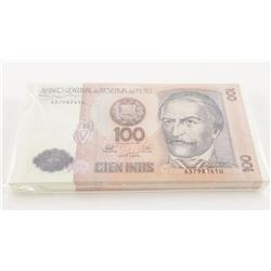Banco Peru - 100 INTS X100 Notes in Sequence
