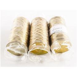 Lot (3) Rolls Canada 1.00 Coin 3x25x1.00