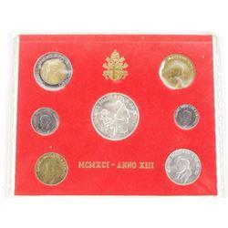 1991 Silver Vatican Coin Set