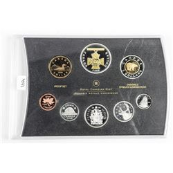 RCM 2006 Proof Set with 24kt Gold Overlay. No Case (SOR)