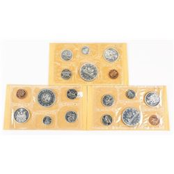 Group (3) 1964-1965-1966 PL Sets, Silver Years 3.3oz ASW