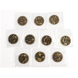 Lot - Bag (10) Canada Flying Loon Dollar Coin