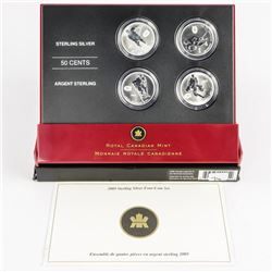 Montreal Hockey Legends 925 Sterling Silver, 4x50 cents with C.O.A.