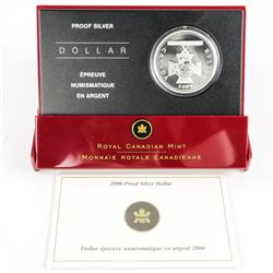 2006 Proof Silver Dollar with C.O.A. (EE)