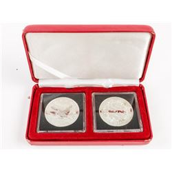 Lot (2) .9999 Fine Silver Coins 1987-1997 Loon and 1911-2001 Dollar Coin