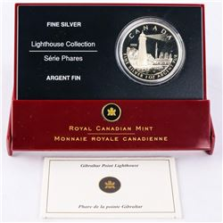 .9999 Fine Silver 1oz $20.00 Coin 2005 Lighthouse with C.O.A. (IR)
