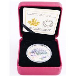 2017 .9999 Fine Silver $15.00 Coin 'Lilac Blossoms