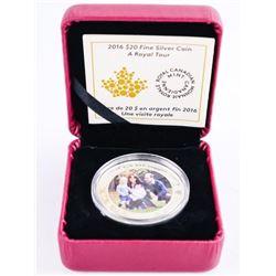2016 .9999 Fine Silver $20.00 Coin 'A Royal Tour'