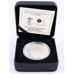 2007 925 Sterling Silver $25.00 Coin 'Ice Hockey'