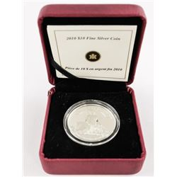 2010 .9999 Fine Silver $10.00 Coin 1935-2010 with