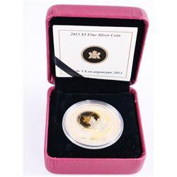 2013 .9999 Fine Silver $5.00 Coin 25th Anniversary