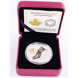 2014 .9999 Fine Silver $20.00 Coin 'Bald Eagle' LE