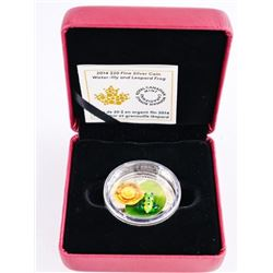 .9999 Fine Silver $20.00 Coin 'Water Lily and Frog