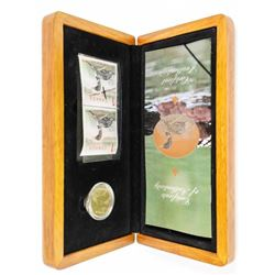 RCM 2004 Stamp and Coin Set, Loon Dollar and Proof