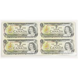 Bank of Canada 1973 UNCUT Sheet 4 Notes