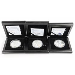 Group (3) 925 Sterling Silver SOCHI - 2014 Proof O