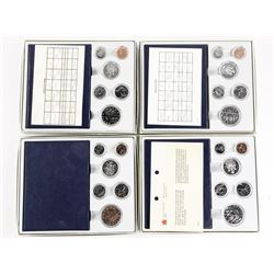 Lot (4) RCM Specimen Coin Sets: 1980s