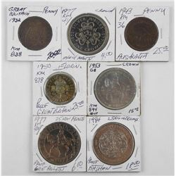 Lot (7) World Coins Identified (SMR)