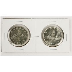 Lot (2) CAD Silver Dollars 1953 - SF and NSF