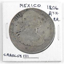 Mexico 1806(O) M.T.H. 8R Carolus IIII