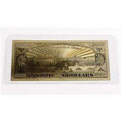 24kt Gold Leaf Collector Note 1 Billion Dollars
