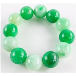 Jadeite 40mm-60mm Bead Flex Bracelet