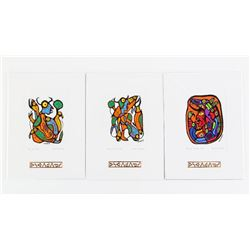 Group of (3) Norval Morrisseau (1931-2007) Cameo C
