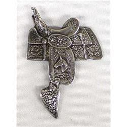 Vintage Southwestern Sterling Silver Saddle Pin