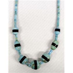 Santo Domingo Turquoise Heishi Necklace