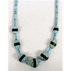 Santo Domingo Turquoise Heishi Necklace