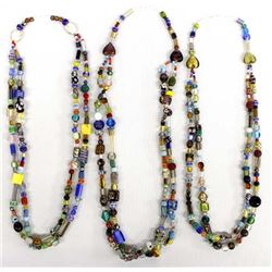 3 Trade Bead Necklaces Designed by Kills Thunder