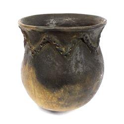 Native American Navajo Pottery Drum Jar