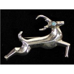 Native American Navajo Sterling Turquoise Pin