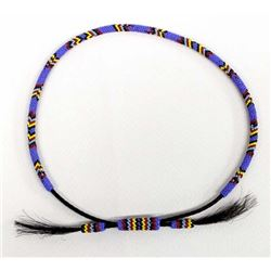 Native American Sioux Beaded Horse Hair Hat Band