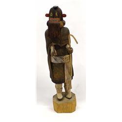Hopi Black Ogre Lady Kachina by Godfrey Hayah