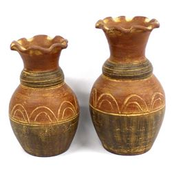 Pair of Mexican Pottery Vases