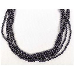 5 Strand Hematite Bead Necklace