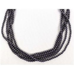 5 Strand Hematite Bead Necklace
