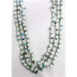 Navajo Turquoise and Shell Heishi Necklace