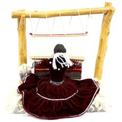 Native American Navajo Weaver Doll