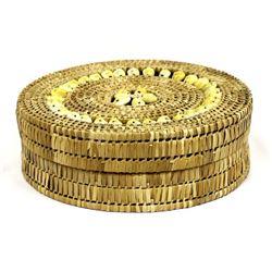 Ethnic Cowry Shell Lidded Basket
