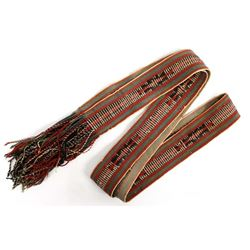 Native American Hopi Wool Fringed Dance Sash
