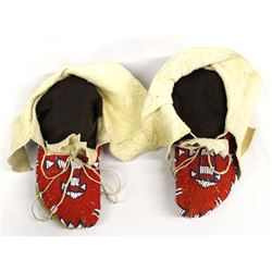 Native American Plains Indian Beaded Moccasins