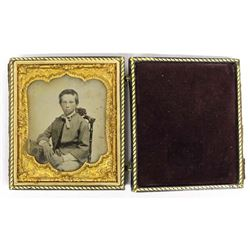 Antique Tintype of Young Boy in Gouda Case