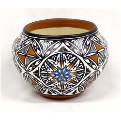 Laguna Polychrome Pottery Bowl by Alberto Pino